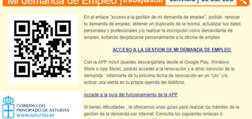 renovar la demanda de empleo en asturias en trabajastur y sellar el paro en asturias por internet