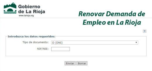 renovar la demanda de empleo en la Rioja y sellar el paro por internet