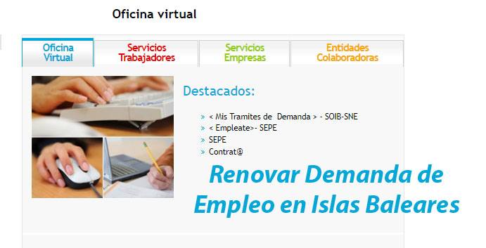 renovar demanda de empleo en islas baleares (soib)