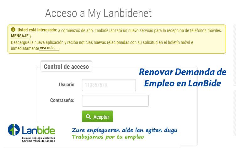 Renovar Demanda De Empleo En Pa S Vasco Lanbide