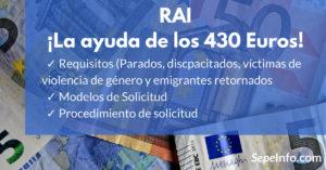 ayuda o prestación RAI