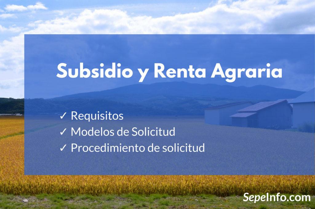 subsidio y renta agraria