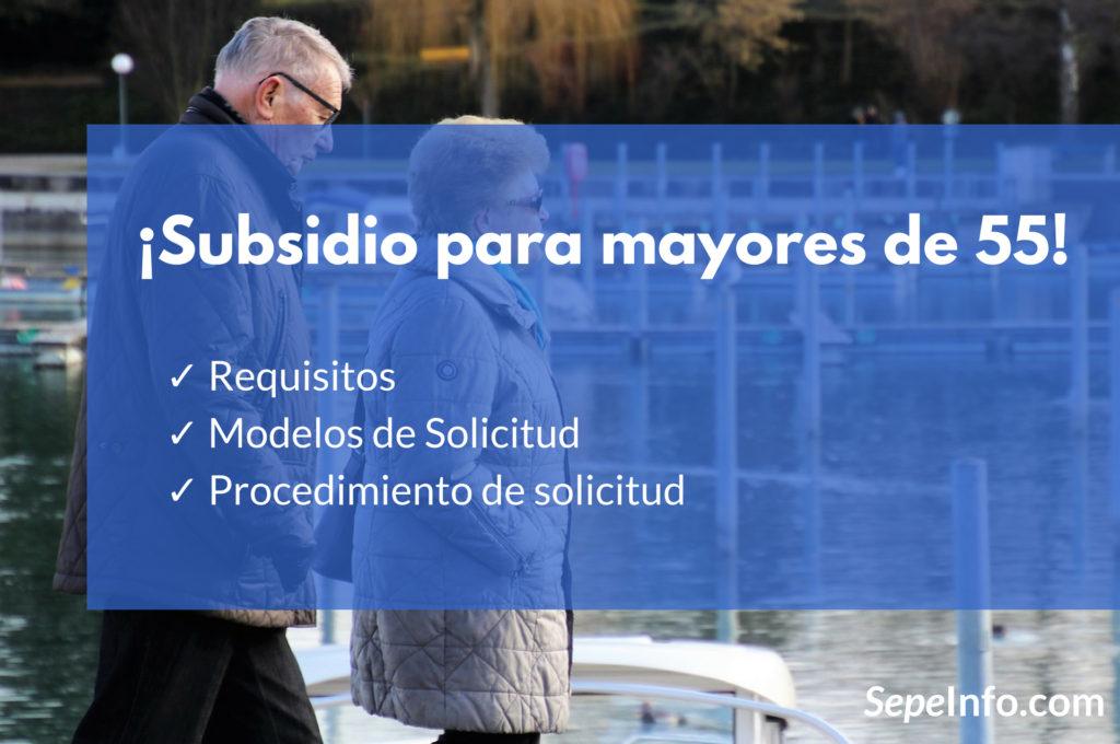 ayuda o subsidio para mayores de 55 años